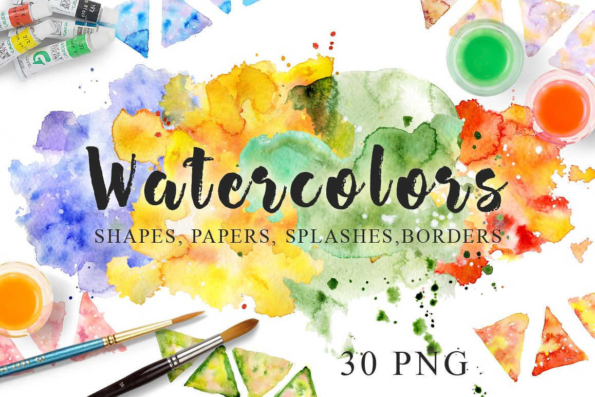 Color Painting Watercolor Splash Background Color Clipart: Watercolor Texture Clipart Watercolor Background Hand