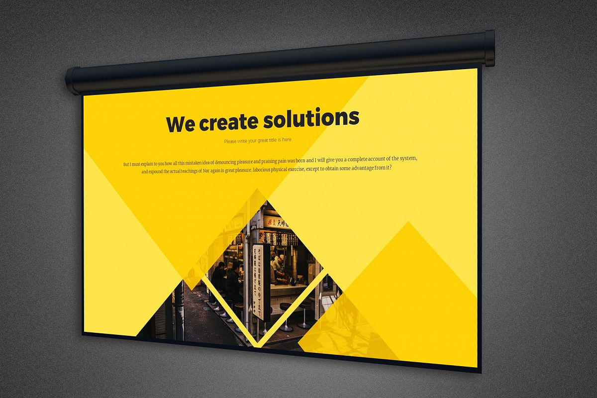 Projector Screen Mockup Template example image 1