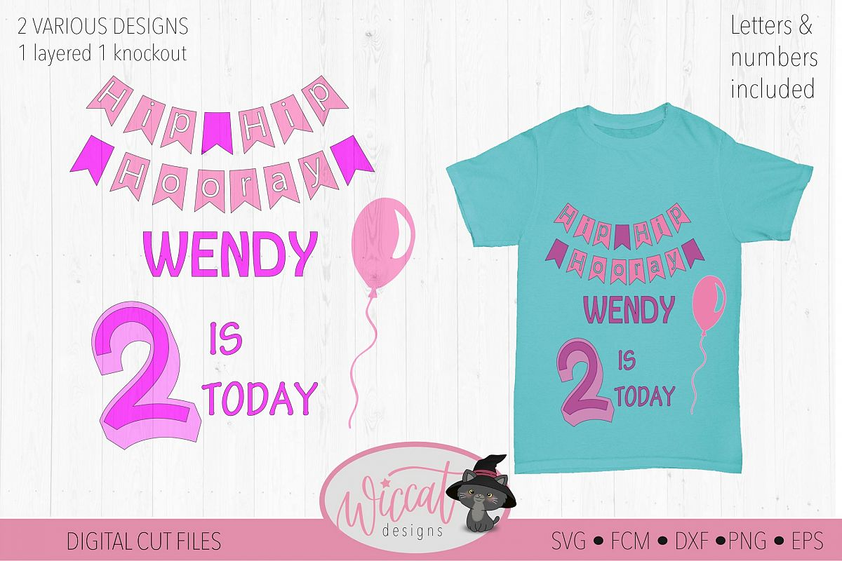 Happy birthday svg, banner svg, ages 1 to 9 cut file example image 1