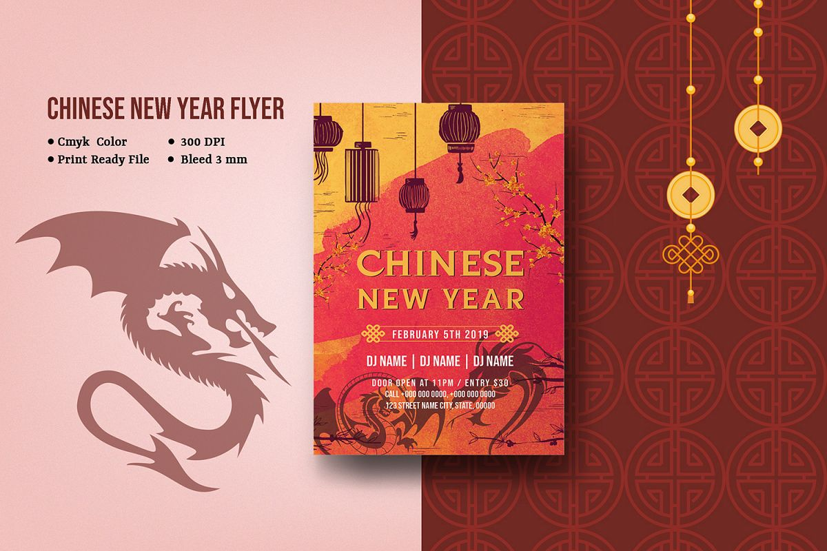Chinese New Year | Lunar New Year Party Flyer example image 1