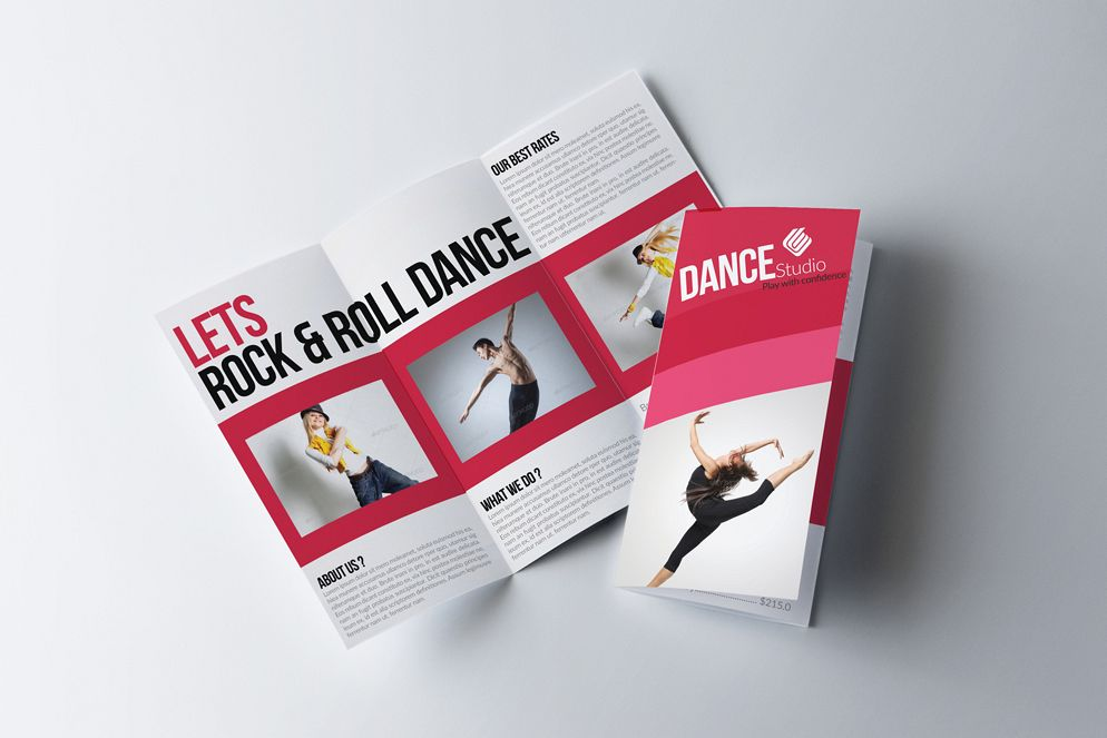 Dance Classes Centre Trifold Brochures example image 1