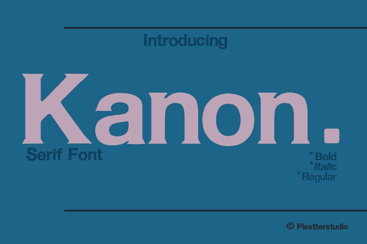 Kanon - Serif Font example image 1