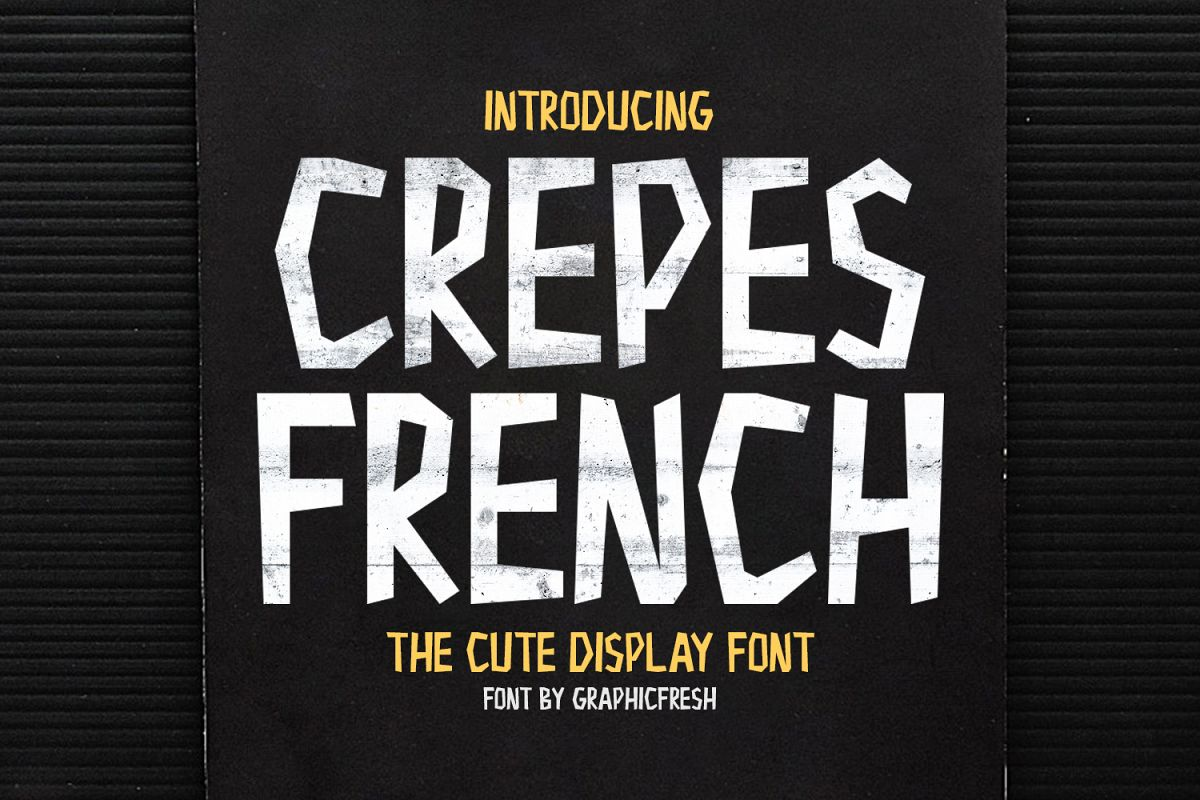 Crepes French - The Cute Display Font example image 1
