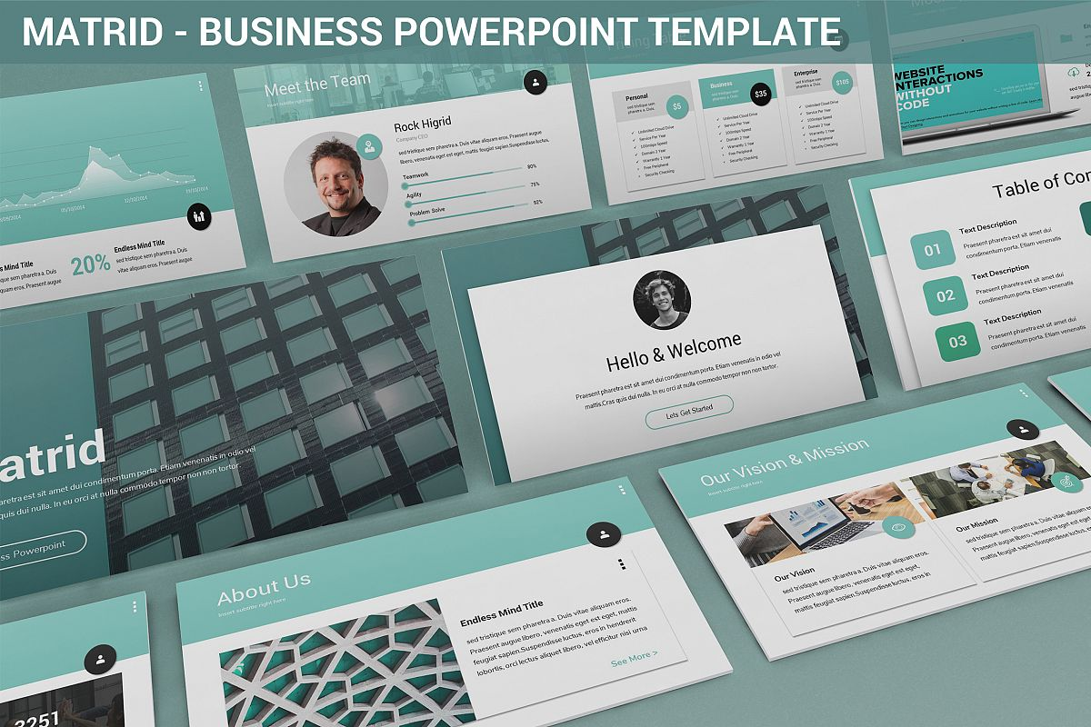 Matrid - Business Powerpoint Template example image 1