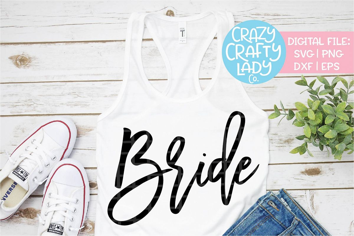 Bride Wedding SVG DXF EPS PNG Cut File example image 1