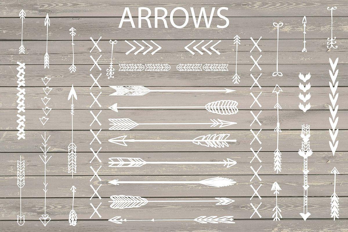 VECTOR Hand Drawn arrows clip arts example image 1