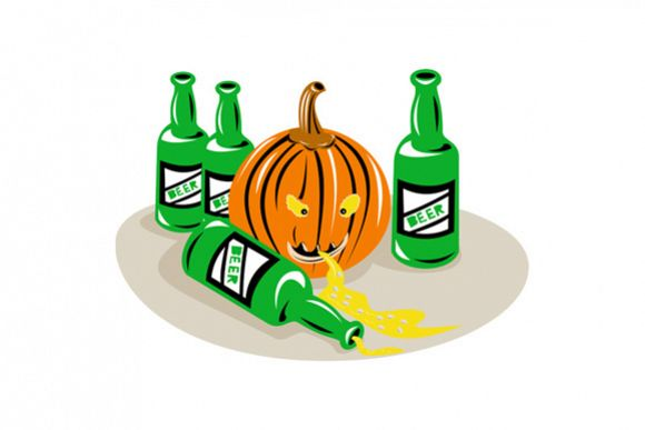 Beer Bottle and Pumpkin example image 1
