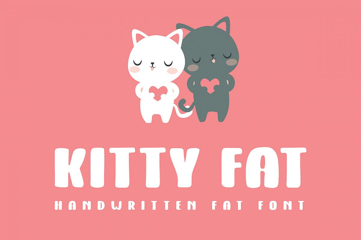 Kitty Fat - Handwritten Font example image 1