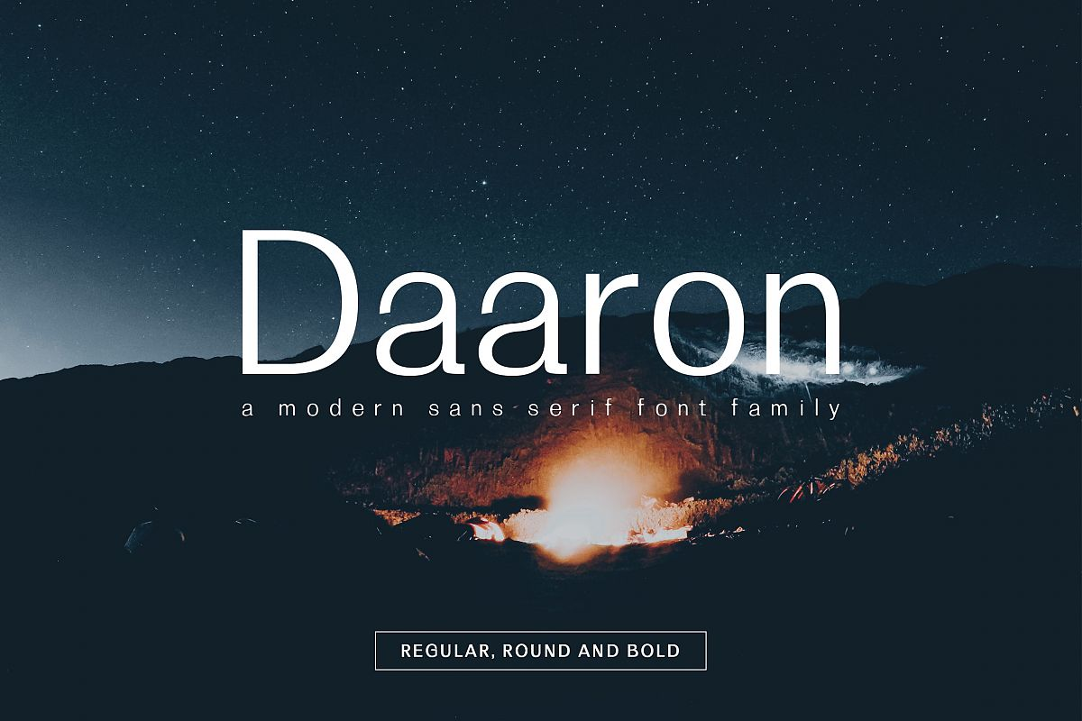 Daaron Sans Serif Font Family example image 1