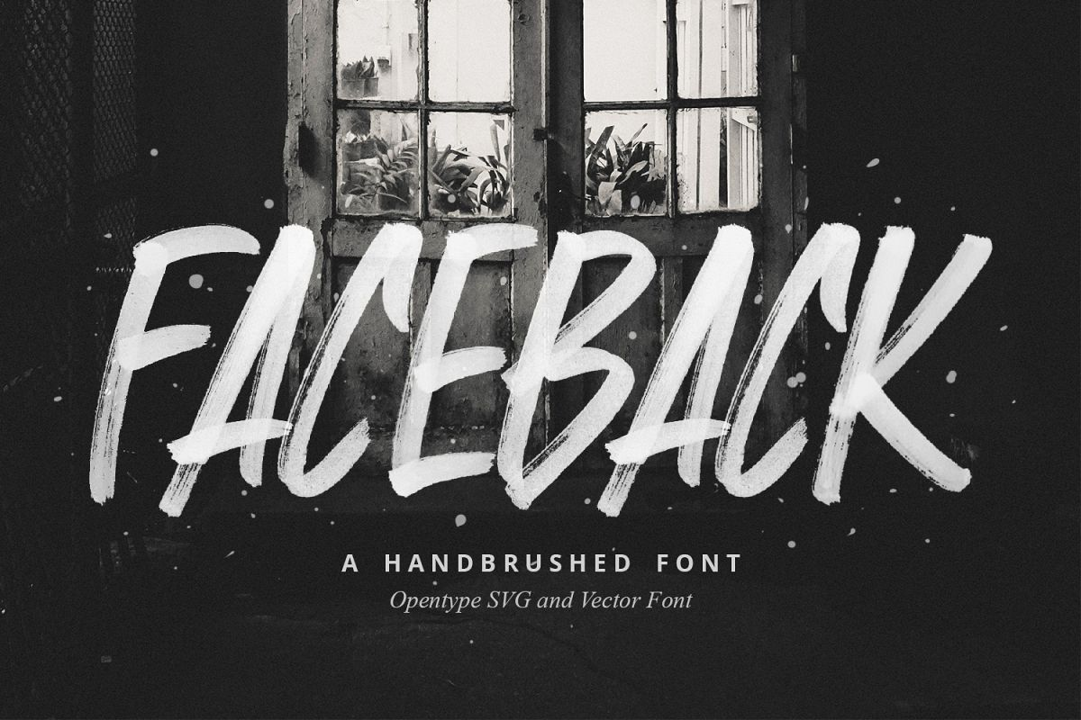 Faceback - SVG Brush Font example image 1