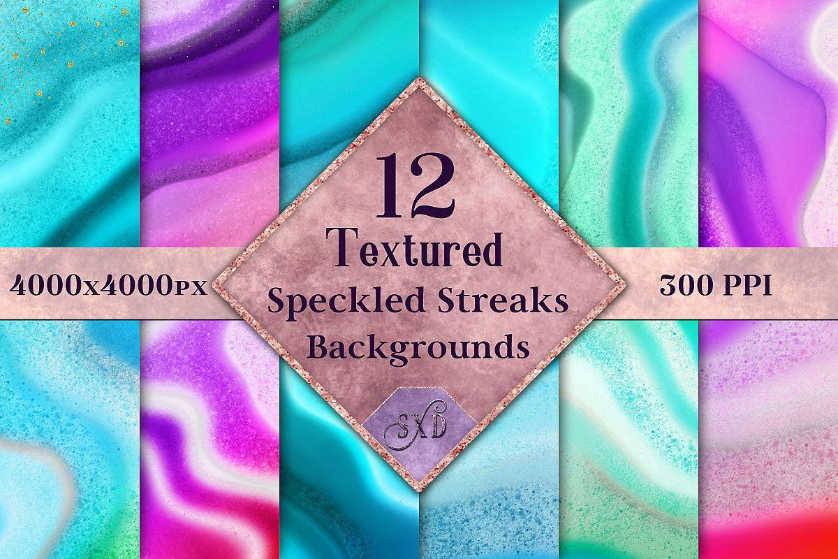 Textured Speckled Streaks Backgrounds - 12 Image Textures example image 1
