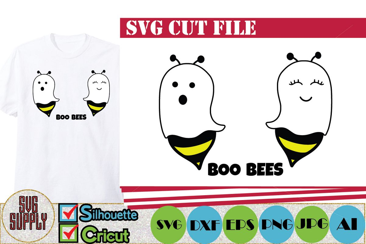 Boo Bees Halloween SVG Cut File example image 1