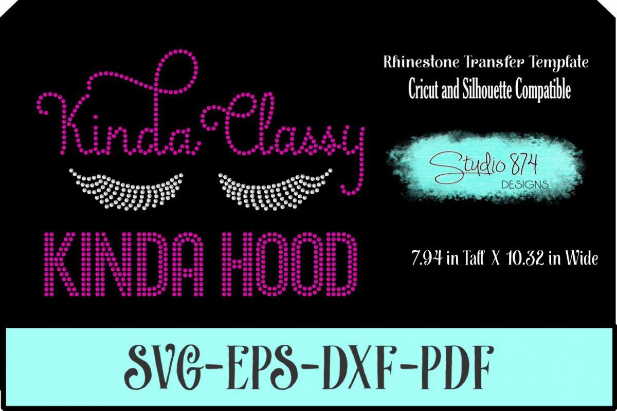 Diva Sassy Rhinestone Template - Kinda Classy Kinida Hood example image 1