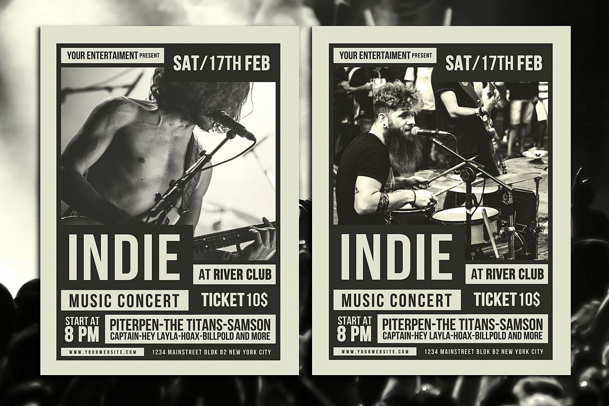 Indie Music Flyer example image 1