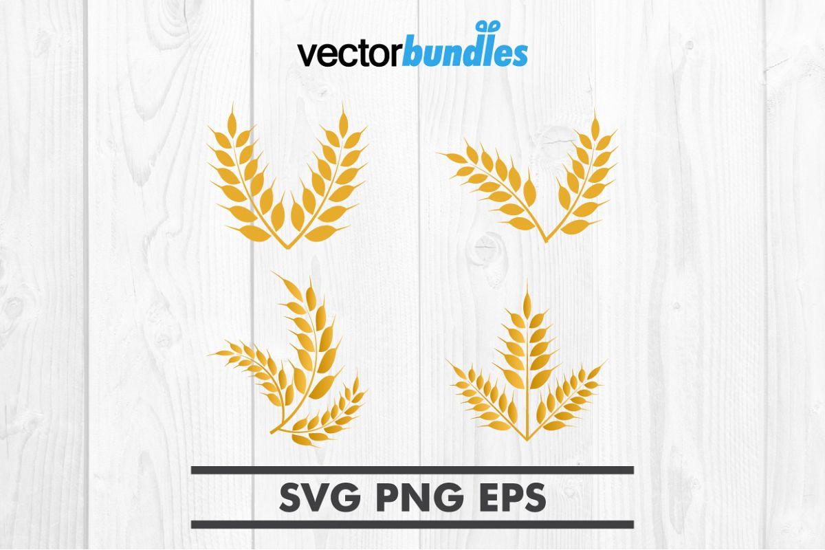 Wheat clip art svg example image 1