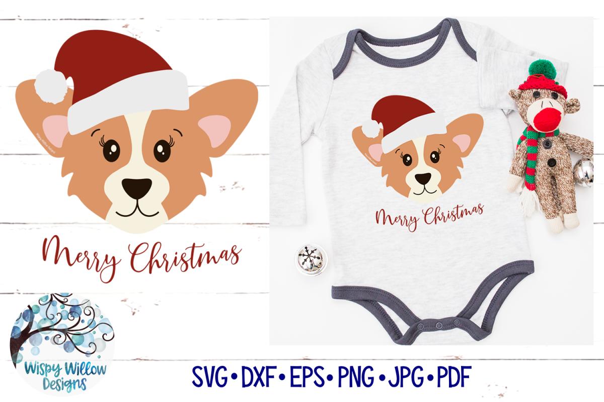 Santa Corgi SVG | Christmas Dog SVG Cut File example image 1
