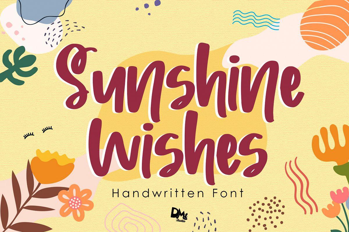 Sunshine Wishes - Handwritten Font example image 1