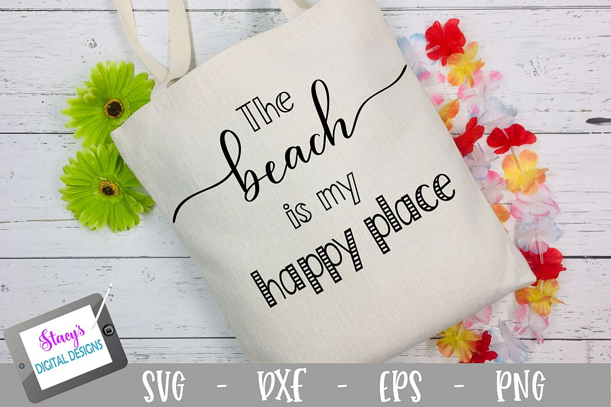 The Beach is My Happy Place SVG - Beach SVG File example image 1