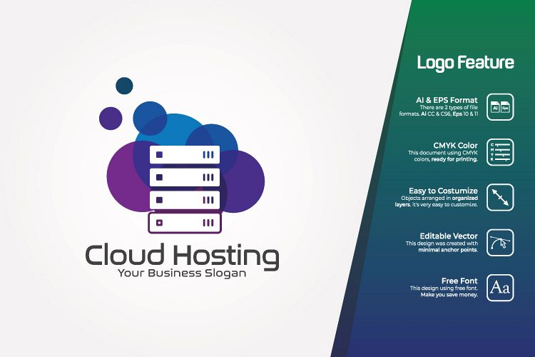 Cloud Hosting Logo Template example image 1