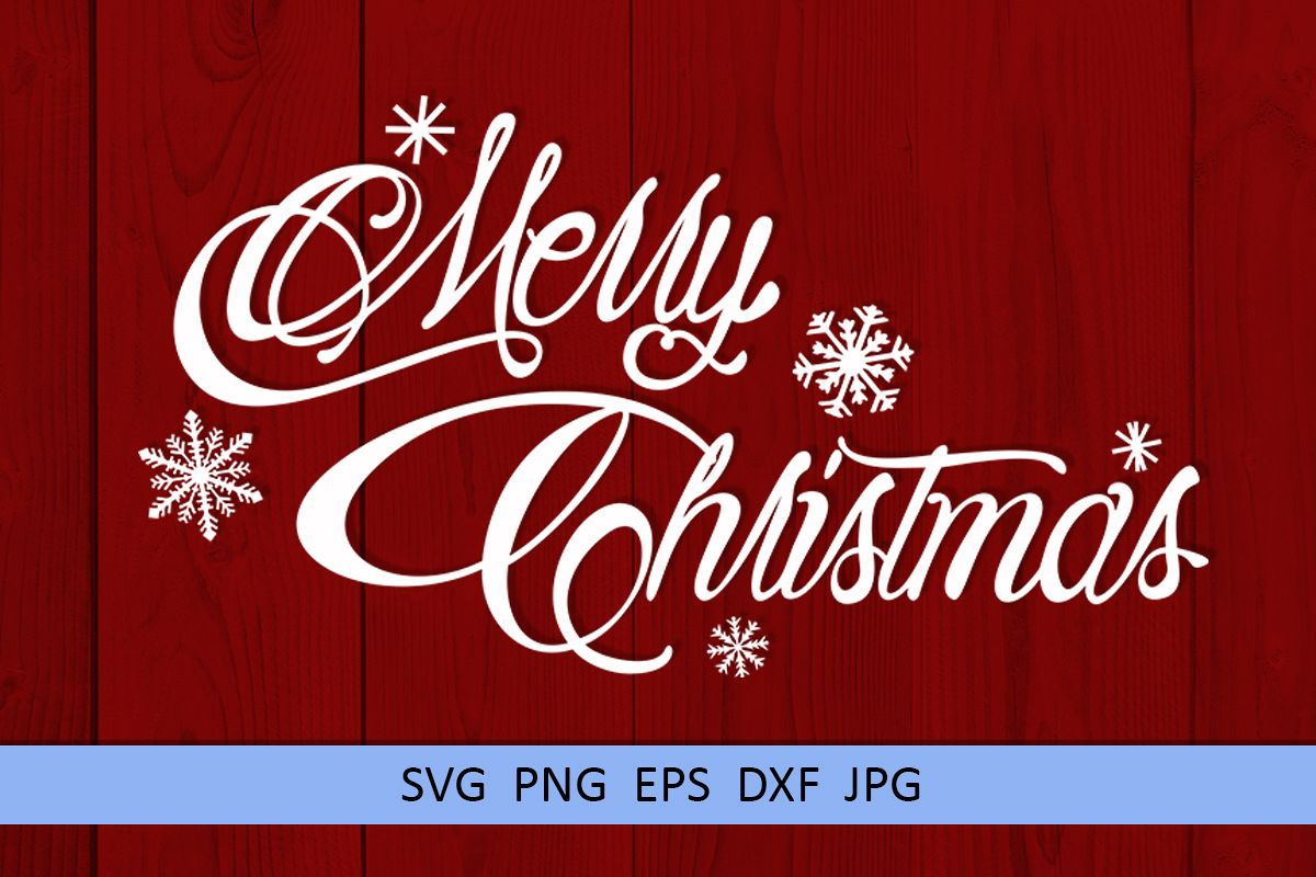 Merry Christmas svg Winter svg Snowflake svg example image 1