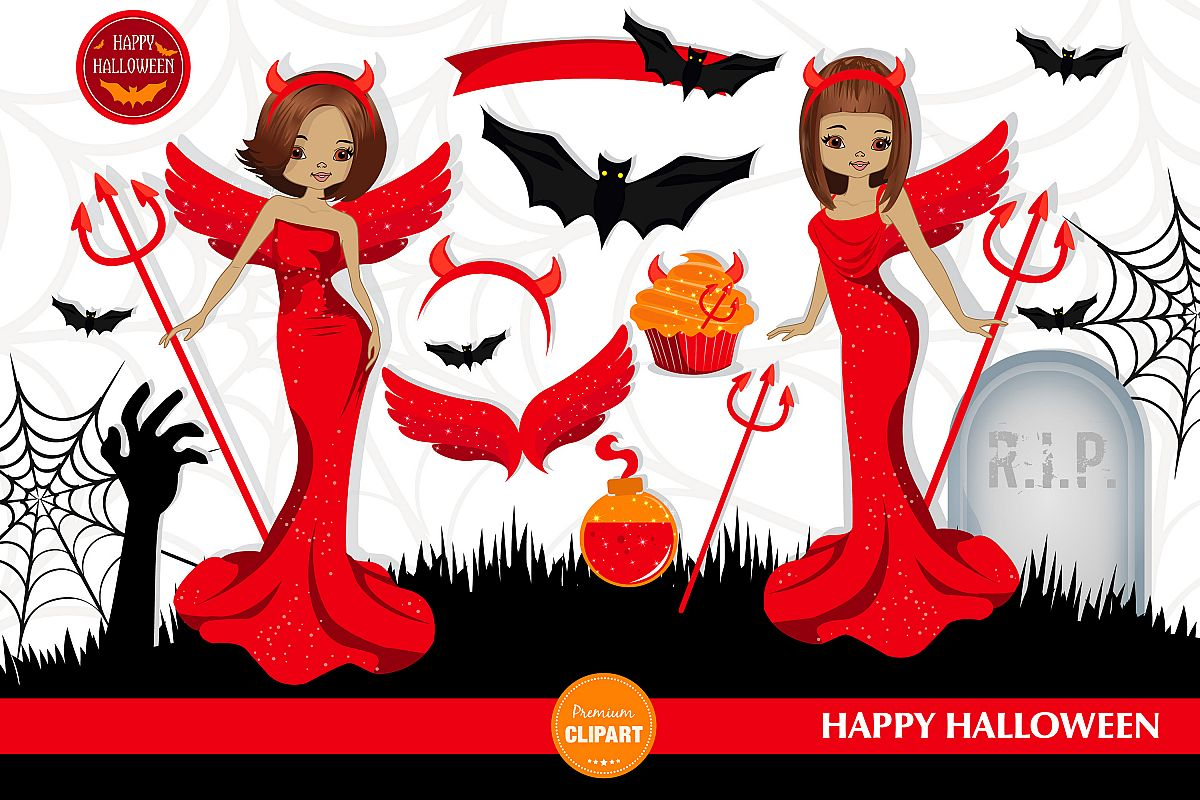 Halloween girl, Halloween illustrations, Halloween printable example image 1