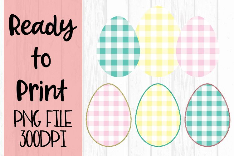 Spring Easter Egg Trio Ready to Print example image 1