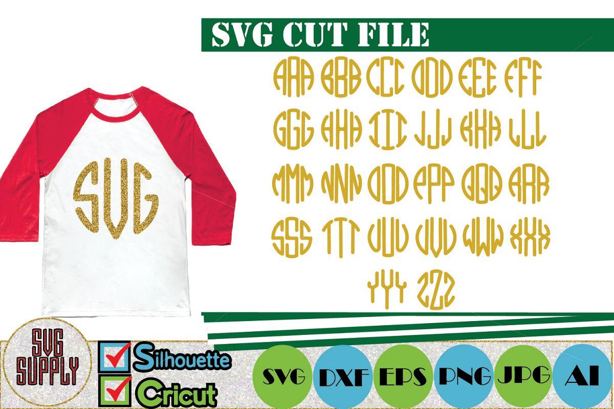 Golden Monogram Alphabet SVG Cut File example image 1