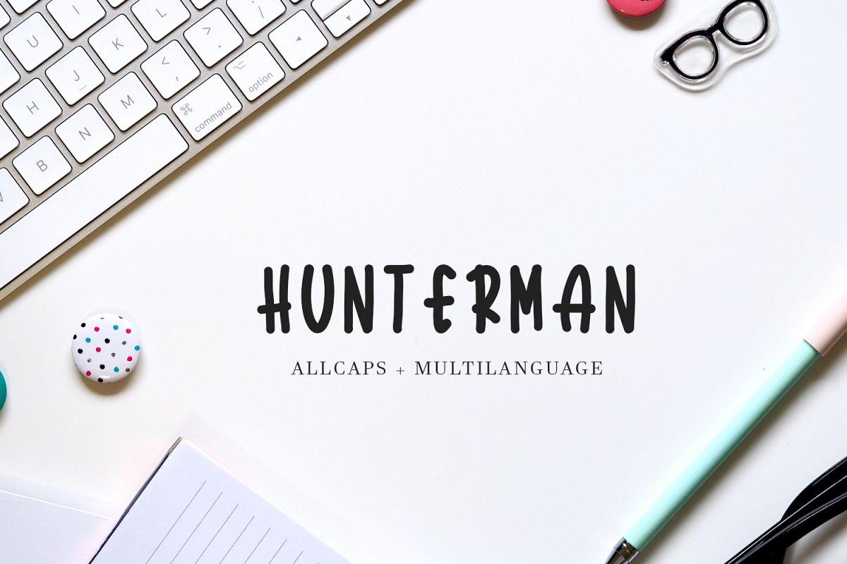 Hunterman Font example image 1