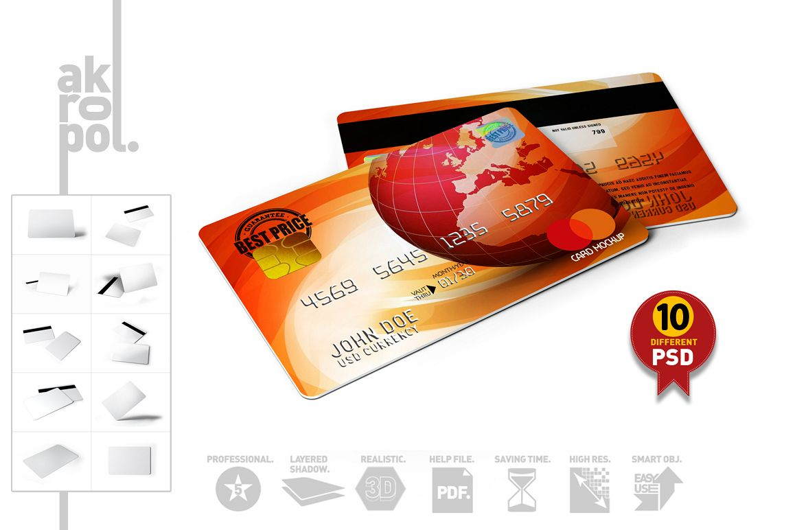 Credit / Bank Card Mock-Up example image 1