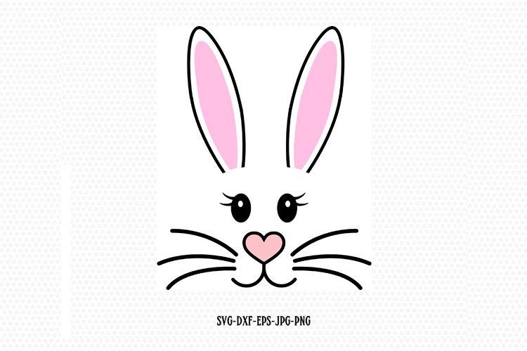 Girl Bunny Svg, Easter Svg, Easter Bunny Svg example image 1