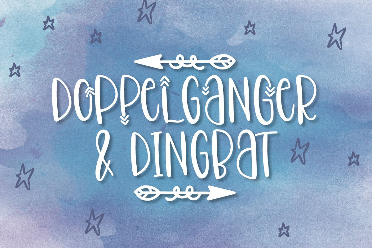 Doppelganger & Dingbat - A Font Duo example image 1