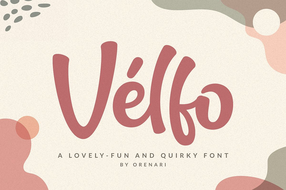 Velfo | A Lovely-Fun And Quirky Font example image 1