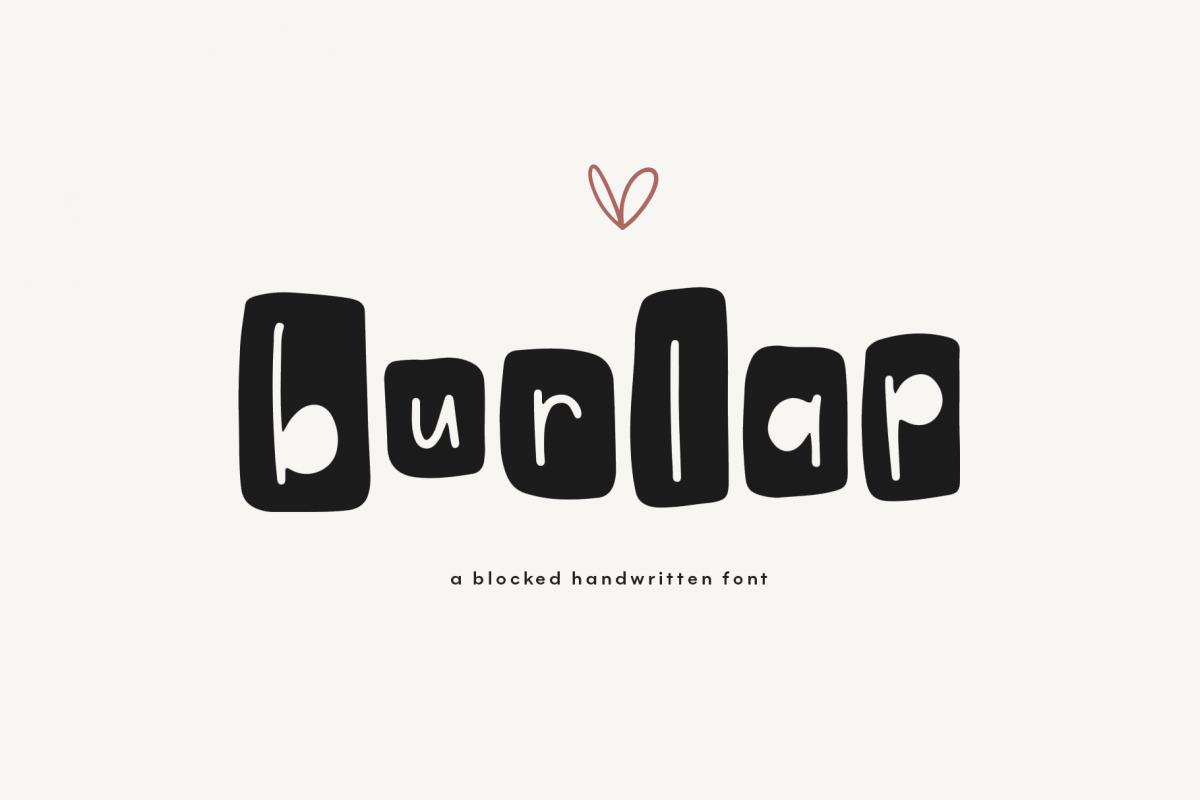 Burlap - A Fun Farmhouse Style Font example image 1
