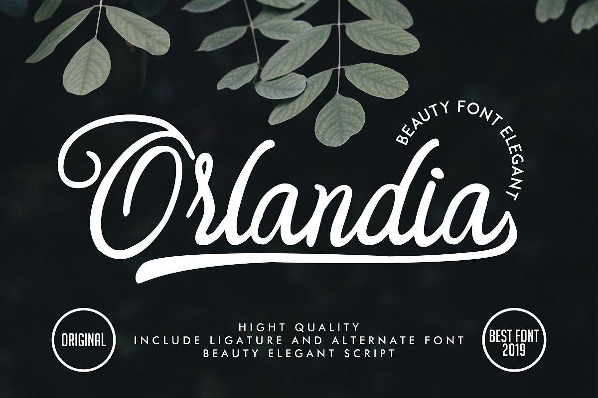 Orlandia | Beauty Font Elegant example image 1