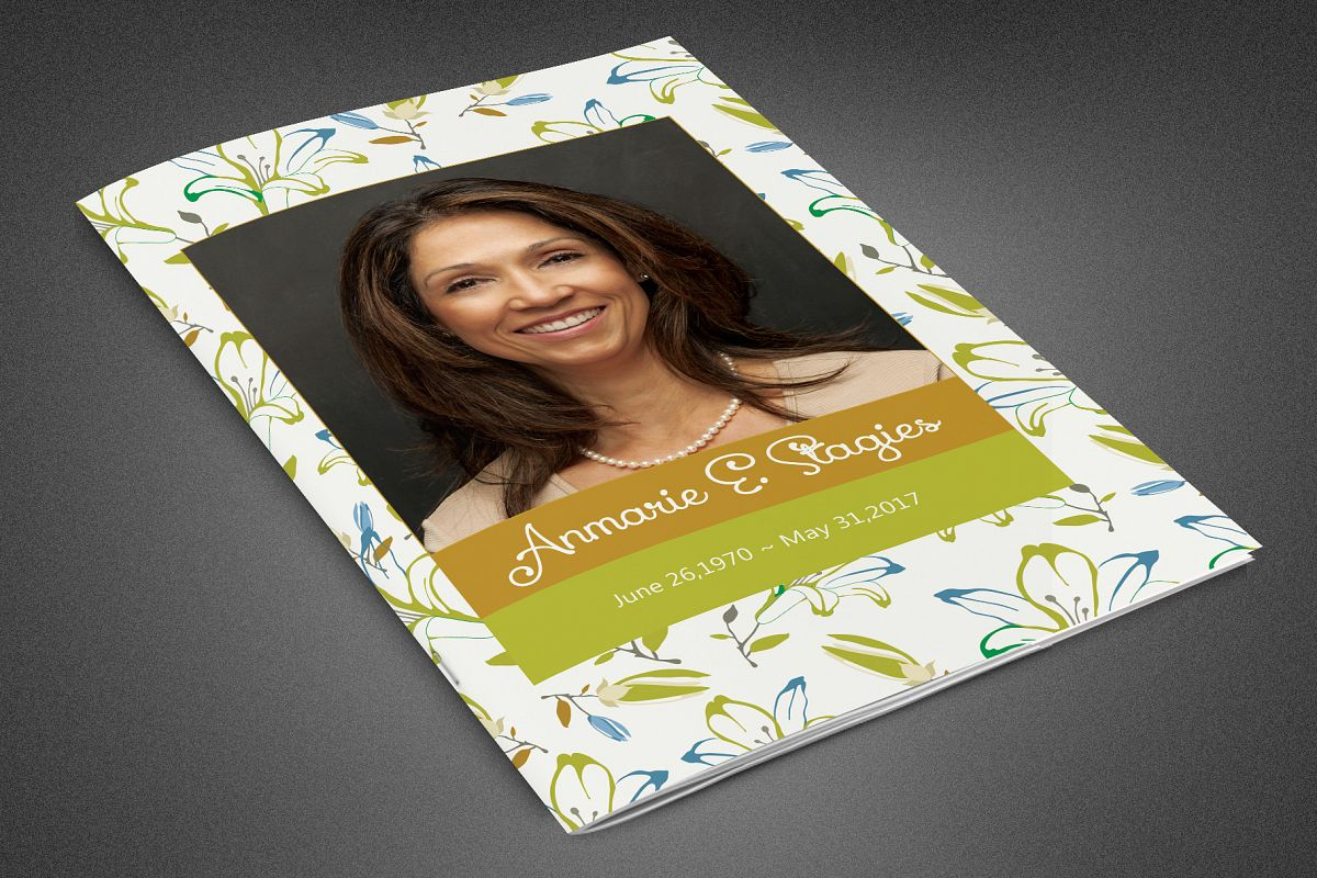 Miss You Funeral Program Template example image 1