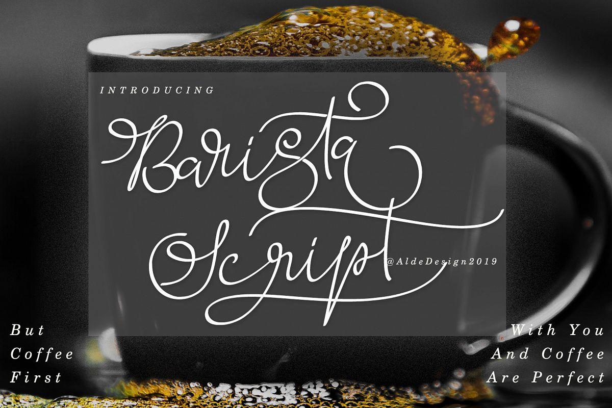 Barista Script Font example image 1