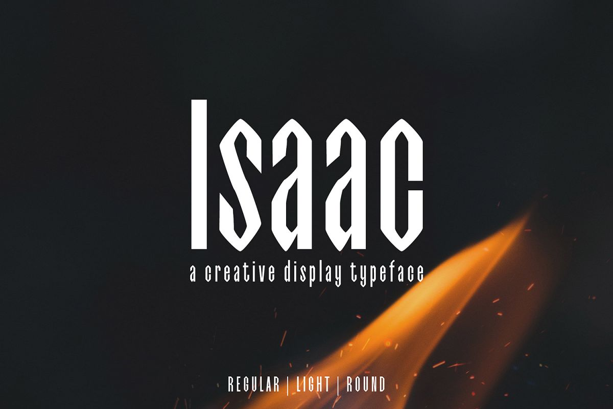 Isaac Display Font Family example image 1