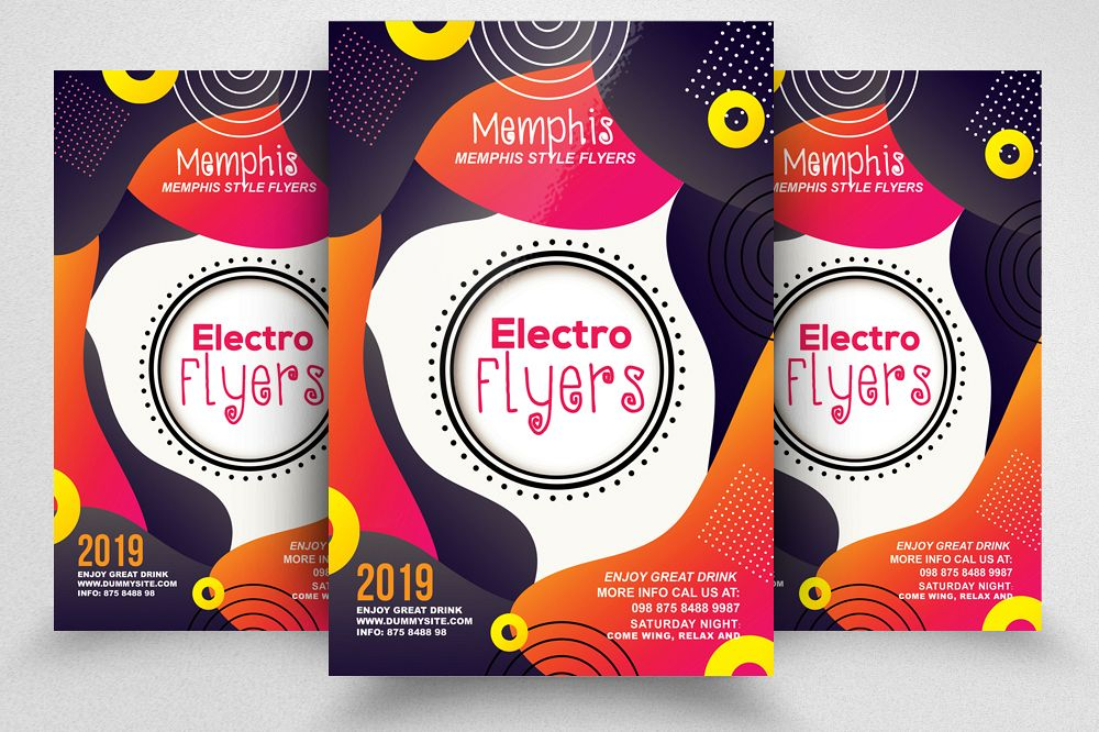 Electro Party Flyer Template example image 1