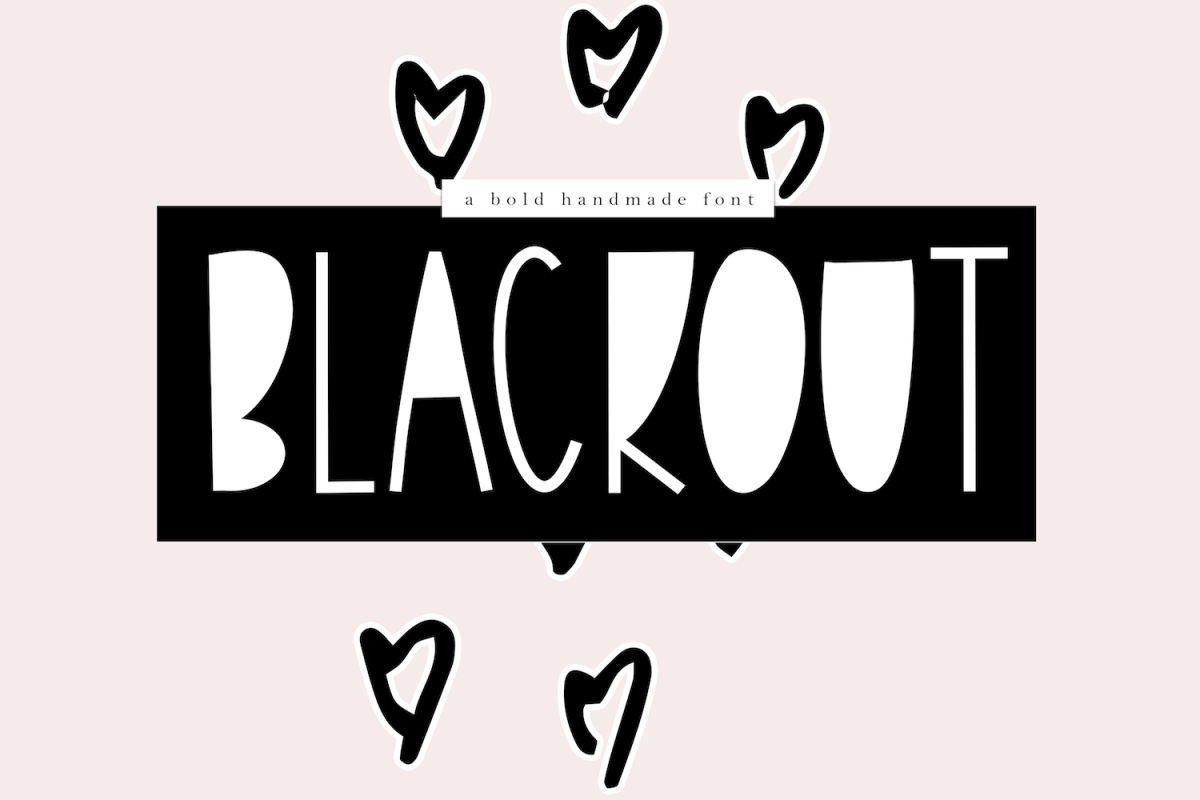 Blackout - A Bold Handmade Font example image 1