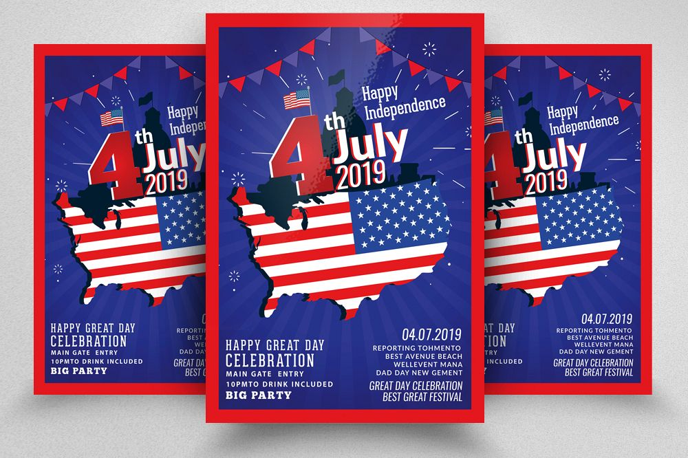 4th of July | Independence day Flyer example image 1