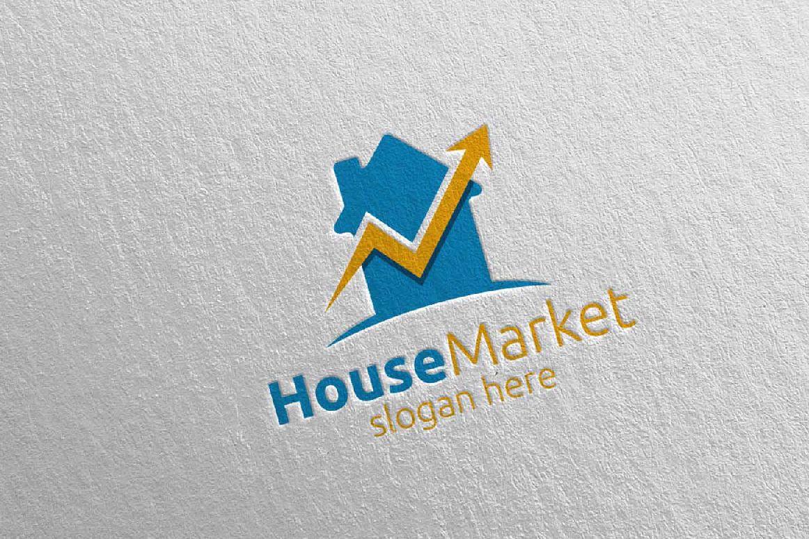 Real Estate Marketing Financial Advisor Logo Design 21 example image 1