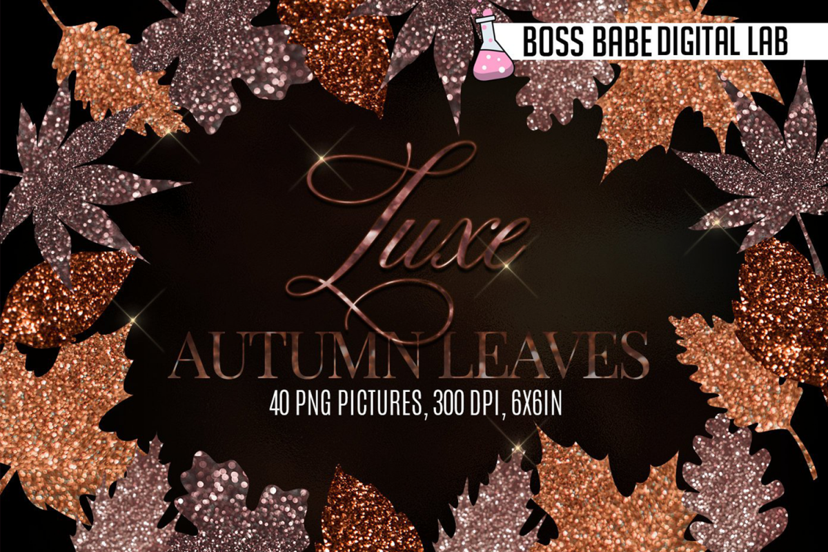 Luxe Fall Leaves Clipart example image 1