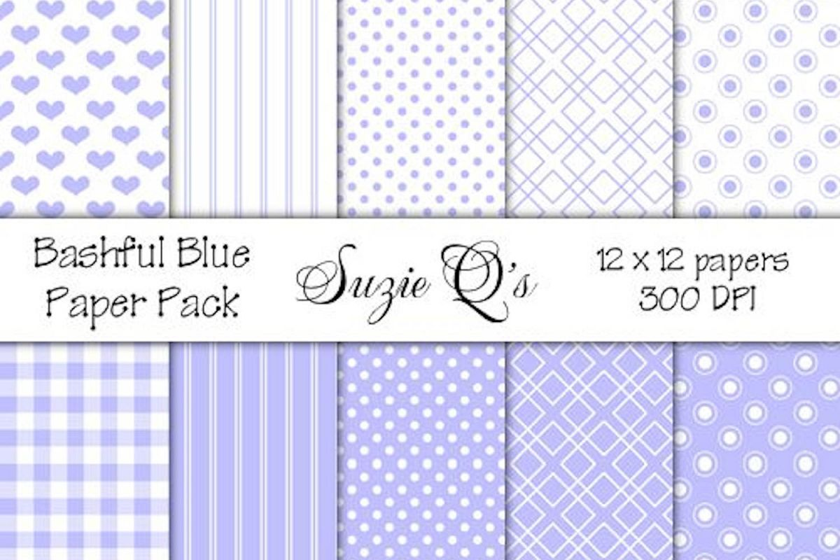 Bashful Blue Paper Pack example image 1