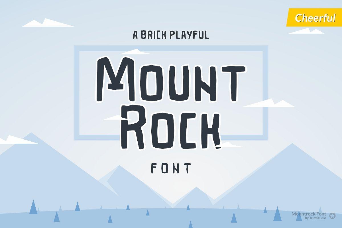 Mountrock - Summer Camp Font example image 1