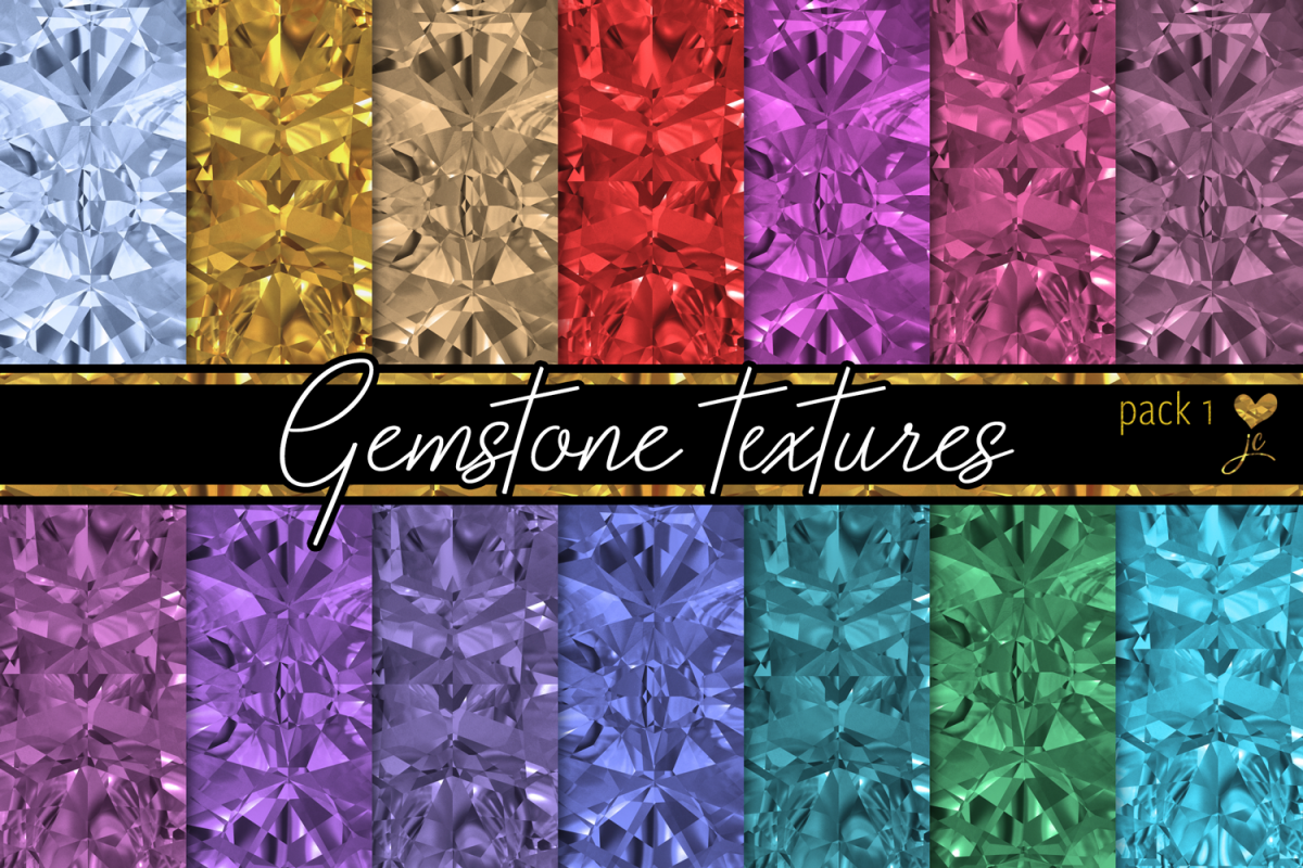 Gemstone Textures Pack 1 example image 1