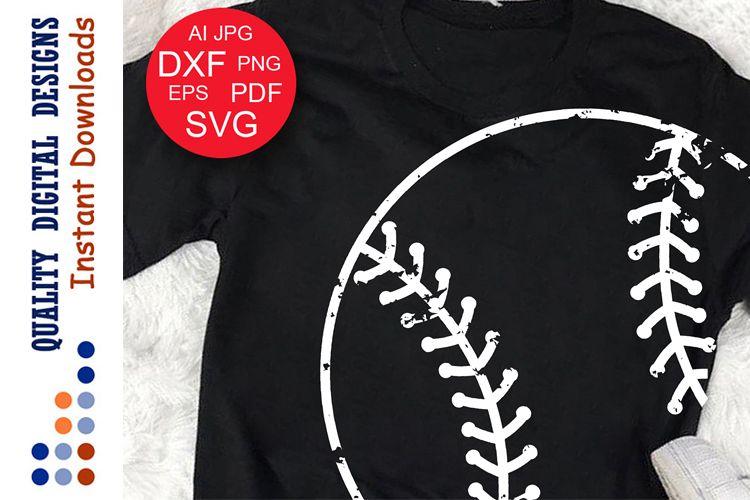 Baseball ball svg clip art Grunge Sports shirts example image 1