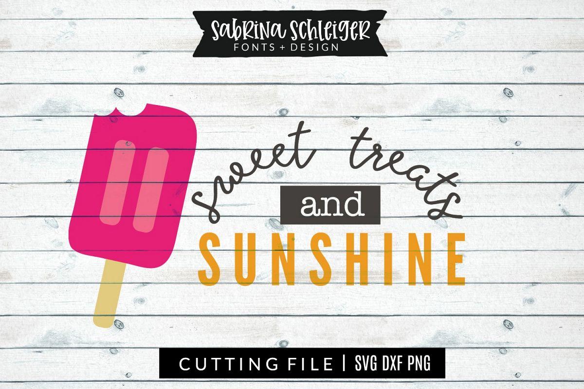Sweet Treats & Sunshine Summer SVG Cut File example image 1