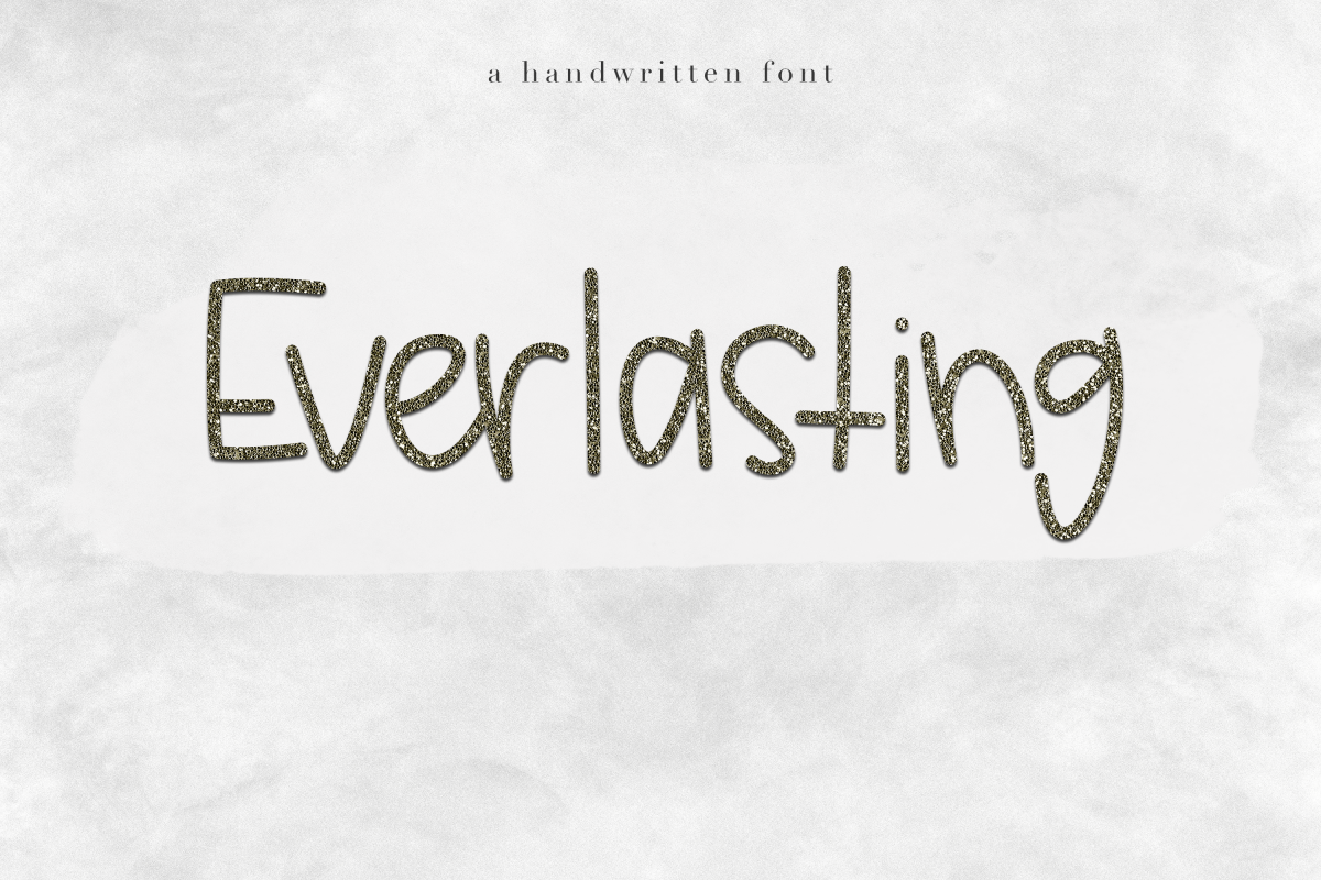 Everlasting - Handwritten Font example image 1