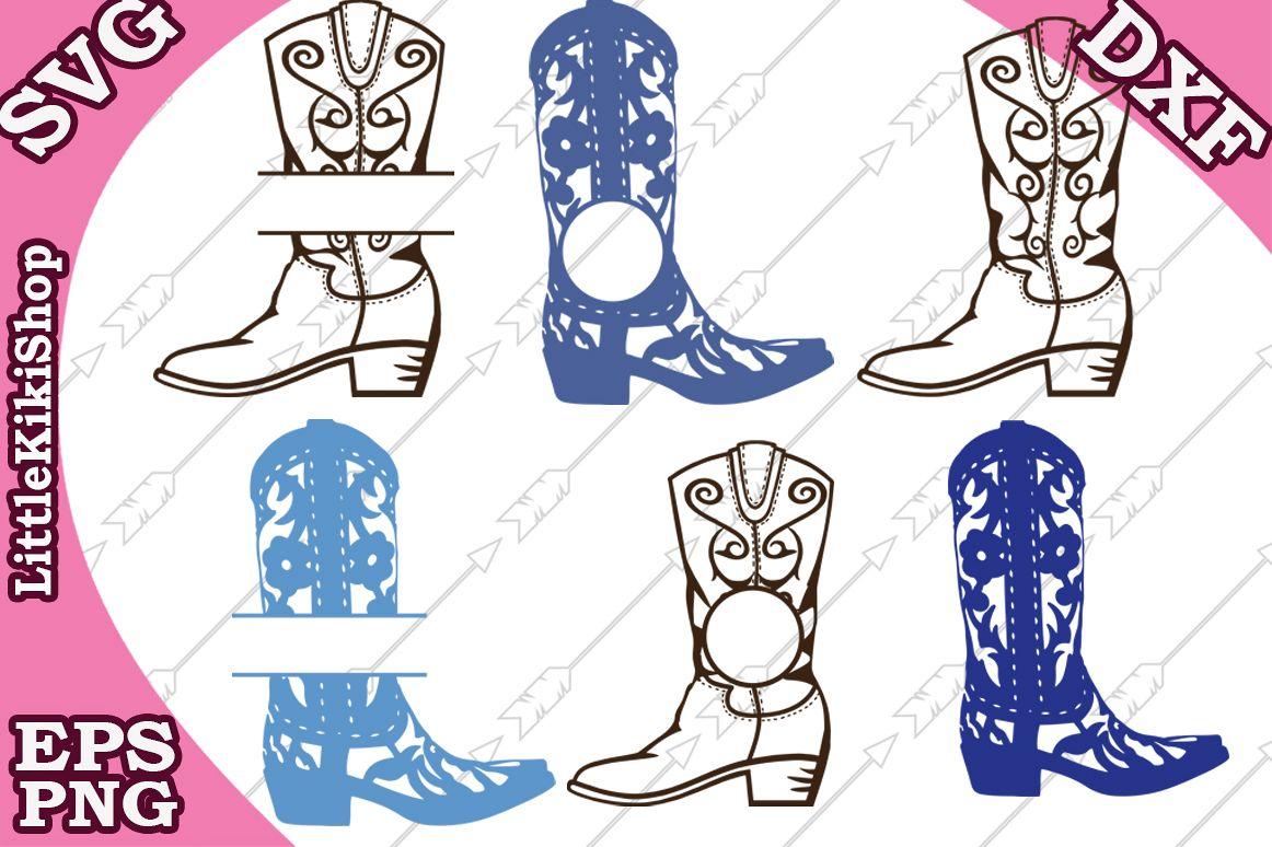 Cowboy Boots Svg,Cowboy Monogram, Western Svg,Boot Monogram example image 1