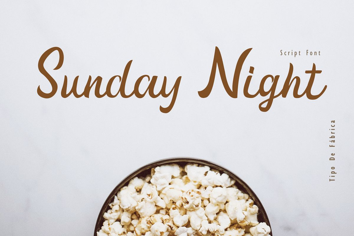 Sunday Night Script Font example image 1